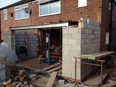 Installation of steel lintel